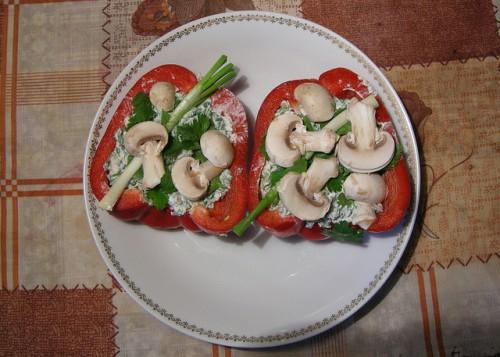 Болгарский перец и грибы