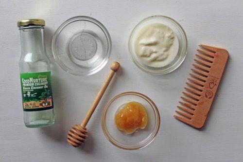Маска с медом и йогуртом для волос