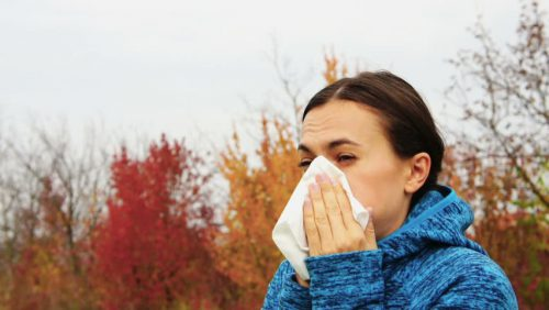 У женщины грипп